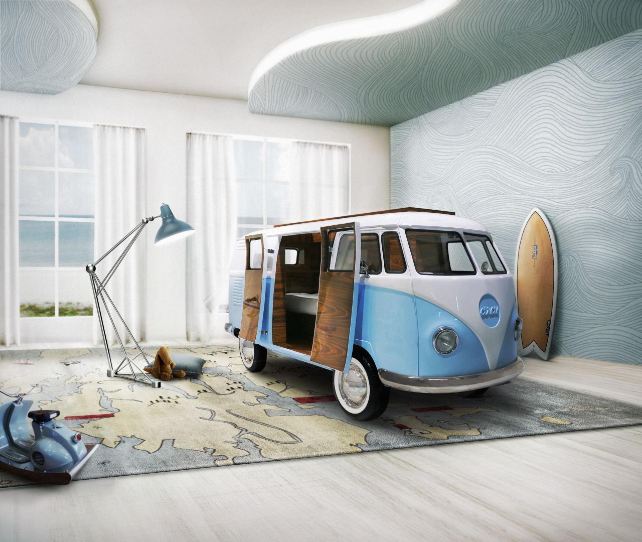 Łóżko jak samochód: Bun Van. Fot. Circu