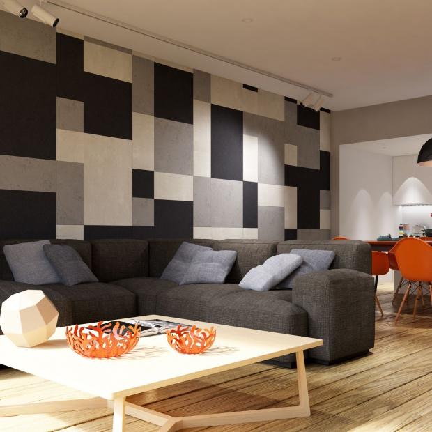 Modny salon: 10 pomysłów na ściany i podłogi