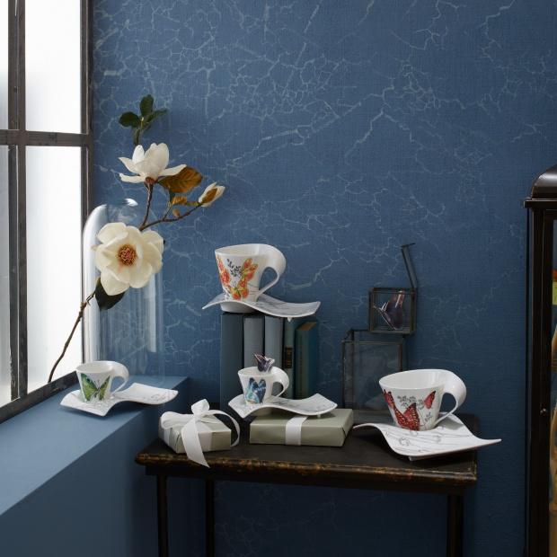 Piękna porcelana: zdobią ją egzotyczne motyle