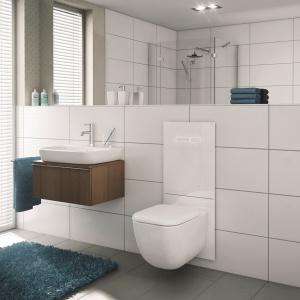 Biała łazienka. Fot. TECE