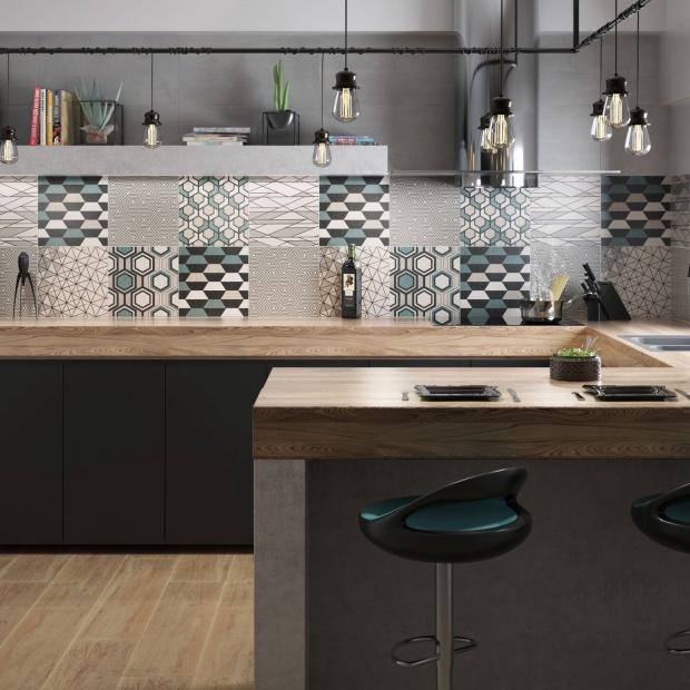 Płytki z geometrycznym wzorem: nowość do kuchni i łazienki: