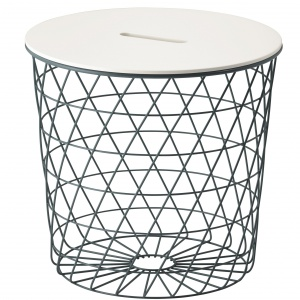 Ażurowy stolik KVISTBRO z miejscem do przechowywania pod zdejmowanym blatem. Od 139 zł. Fot. IKEA