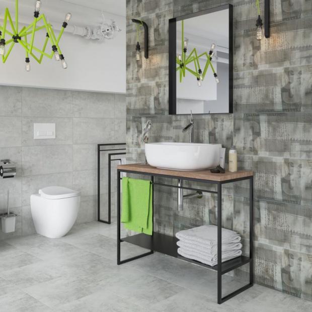 Nowoczesna łazienka: płytki nawiązujące do graffiti