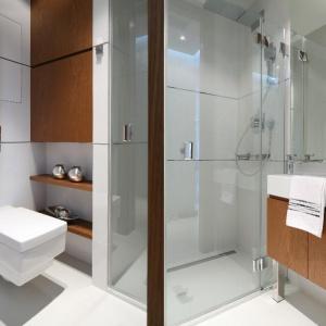 Bardzo mała łazienka. Projekt: Anna Maria Sokołowska. Fot. Bartosz Jarosz