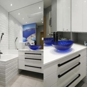 Bardzo mała łazienka. Projekt: Ewelina Para. Fot. Bartosz Jarosz