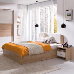 Kolekcja minimalistycznych mebli do sypialni Pola. Fot. Wajnert Meble