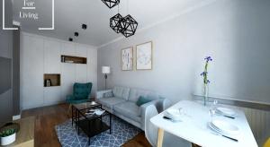 Wnętrze urządzone w nowoczesnym stylu, inspirowane stylem skandynawskim.