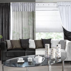 Czarno-białe wnętrze. Fot. Eurofirany