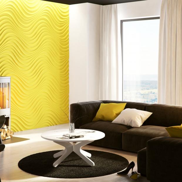 Modny salon: piękne materiały na ściany