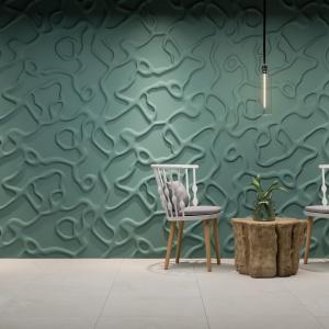 Pomysł na ścianę w salonie. Fot. Dunes