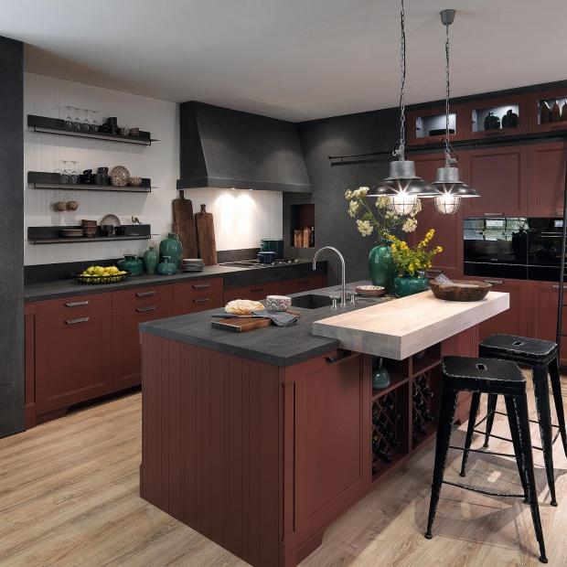 Kuchnia w kolorze marsala: 5 dekoratorskich pomysłów