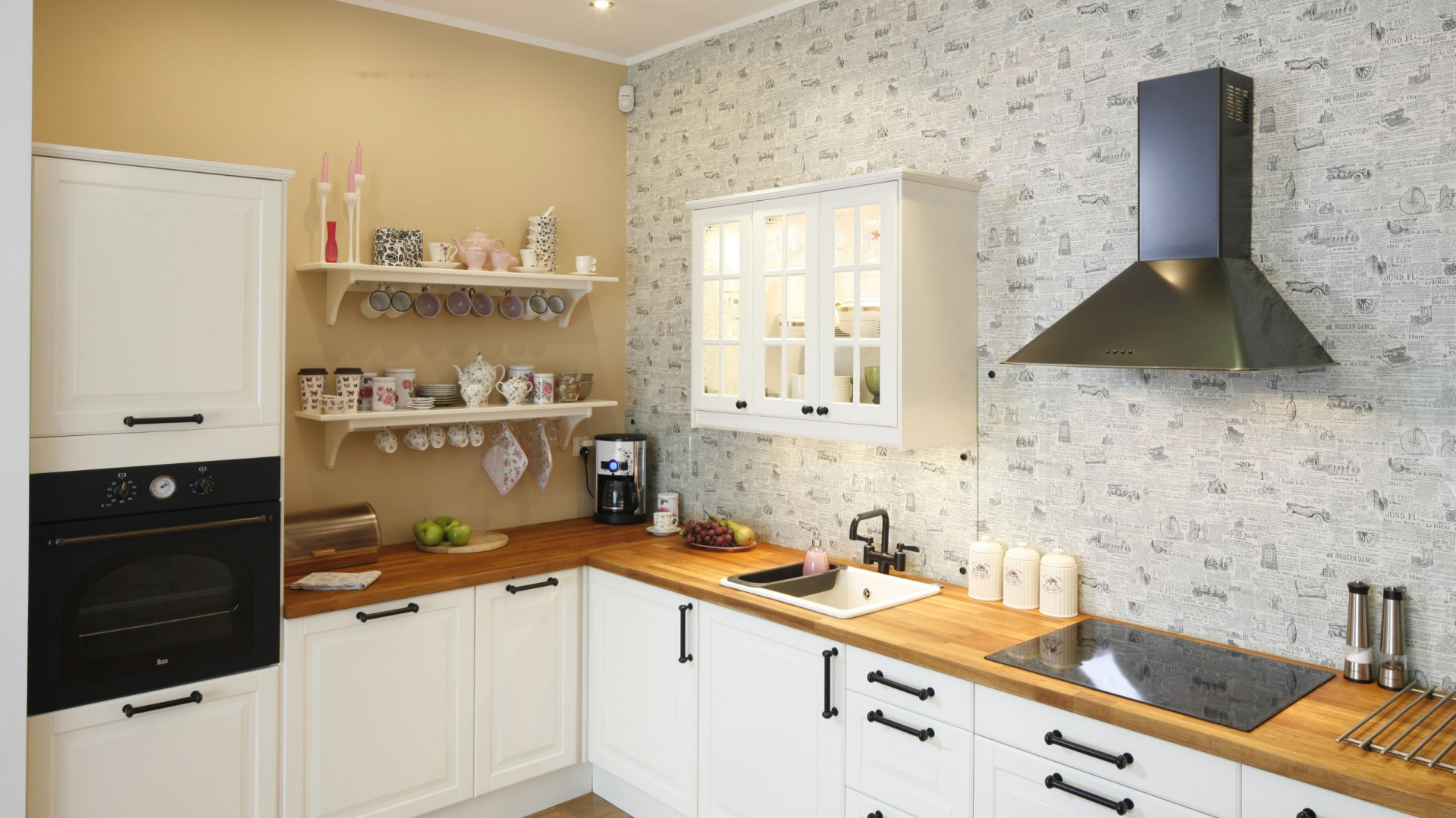 dekoracja ścian kuchennych kuchnia i jadalnia