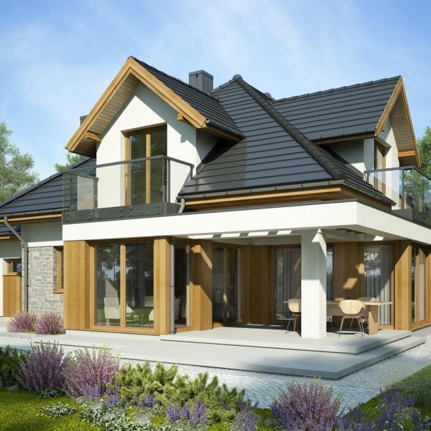 Nowoczesny 150-metrowy dom: funkcjonalny układ i piękne wnętrza