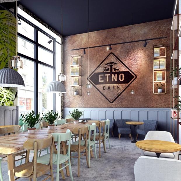 Etno Cafe - wnętrze, które pachnie kawą