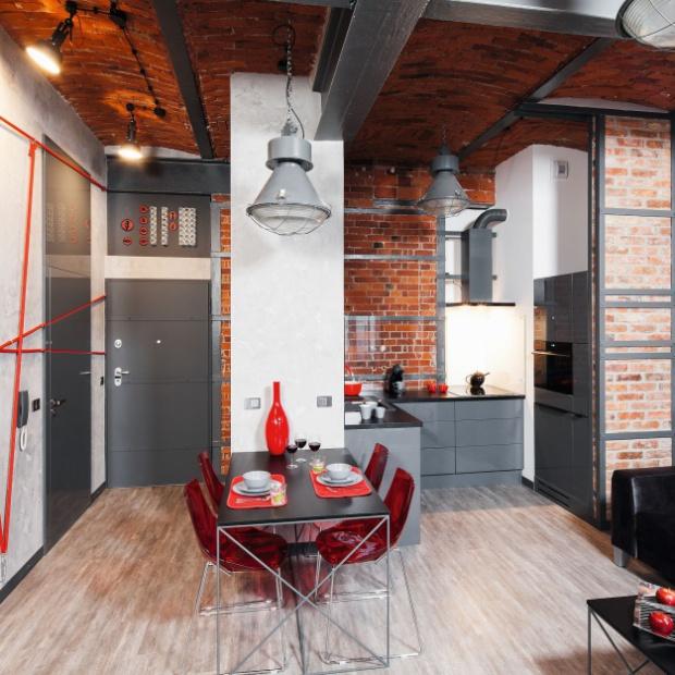 7 pomysłów na aranżacje kuchni w stylu loft