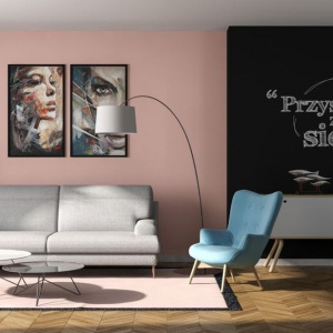 Farba tablicowa w salonie. Fot. Magnat