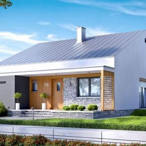 Dom Ralf II G1 ENERGO PLUS nie tylko fantastycznie wygląda, ale również oszczędza dla swoich właścicieli – projekt w standardzie wyposażono w zestaw energooszczędnych instalacji: pompę ciepła, wentylację mechaniczną z rekuperacją, a także system solarny. Fot. Archipelag