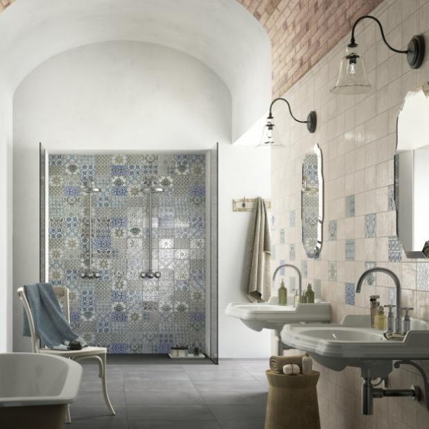 10 pomysłów na patchwork w łazience