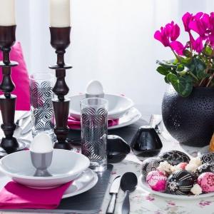 Pomysł na wielkanocny stół. Kolekcja Mirella + Jupiter. Fot. Dekoria.pl