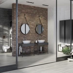 Linia Splendour. Designerskie umywalki nablatowe o różnych kształtach – owalnym i prostokątnych, a także klasyczna, prostokątna umywalka meblowa, doskonale wpasują się we wnętrze eleganckiej, ascetycznej łazienki. Fot. Opoczno