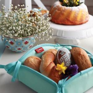 Koszyk na pieczywo, pastelowa mięta, kolekcja Loneta. Fot. Dekoria