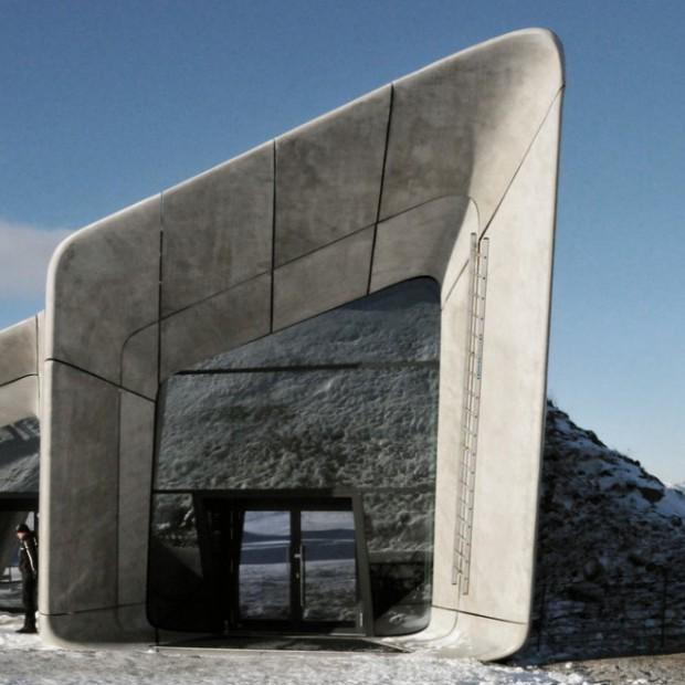 Zaha Hadid i Peter Irmscher autorami niezwykłego projektu - muzeum w górze