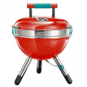 Czerwony grill przenosny Jamie Oliver mały. Cena: ok. 299zł. Fot. Bonami.pl