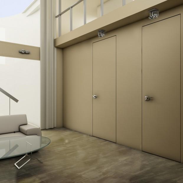 Drzwi wewnętrzne ukryte w ścianie