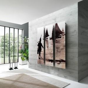 Frame Picture to wyjątkowy grzejnik, którego powierzchnię zdobi dowolny obraz – wybrany z wykończeń proponowanych przez firmę Cordivari Design lub obrazów i zdjęć z własnej kolekcji. Dzięki temu element grzewczy staje się prawdziwym dziełem sztuki zdobiącym wnętrze. Fot. Cordivari Design
