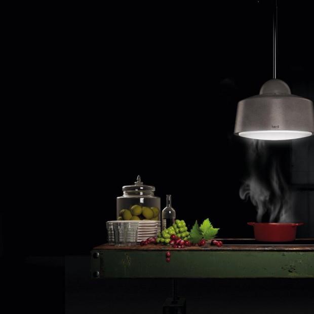 Okap jak lampa do kuchni z wyspą