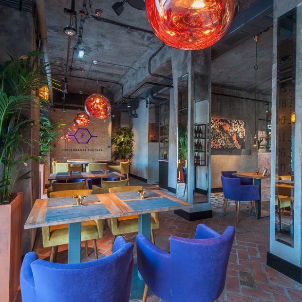 Oryginalne wnętrze nowej restauracji Faktura