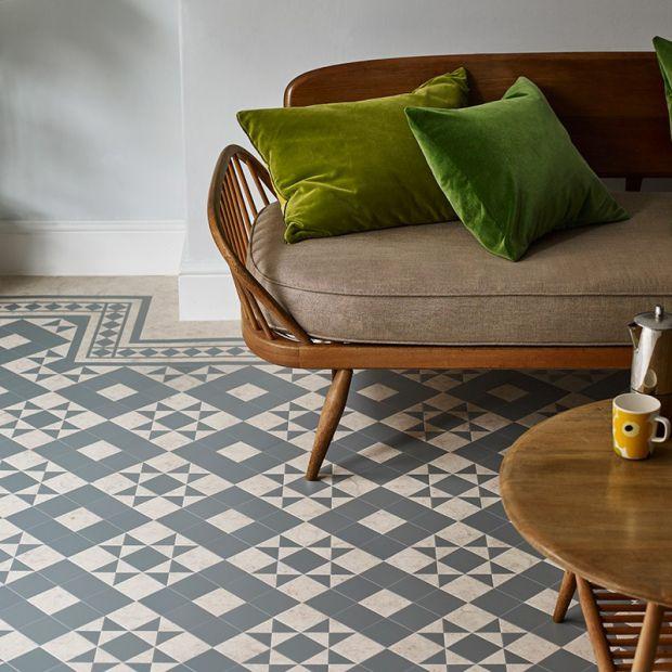 Wzory na podłodze rodem z wiktoriańskiej Anglii