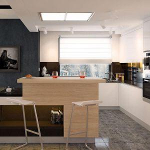 Okno w kuchni zapewnia dużą ilość naturalnego światła. Dom Karat, projekt: arch. Rafał Zdanowicz, arch. Tomasz Siemieniuk. Fot. Archetyp