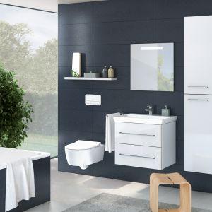 Białe meble do łazienki: kolekcja Avento. Fot. Villeroy&Boch