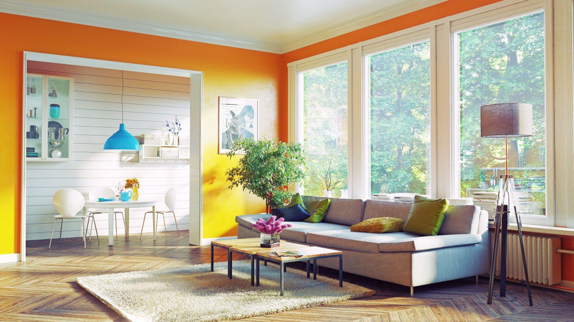Soczyście pomarańczowa ściana doda energii i ociepli pokój. Fot. Dekoral