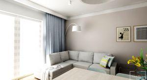 Mieszkanie o powierzchni 56.5 m2, urządzone nowocześnie, w jasnych i przytulnych kolorach, inspirowane stylem skandynawskim.