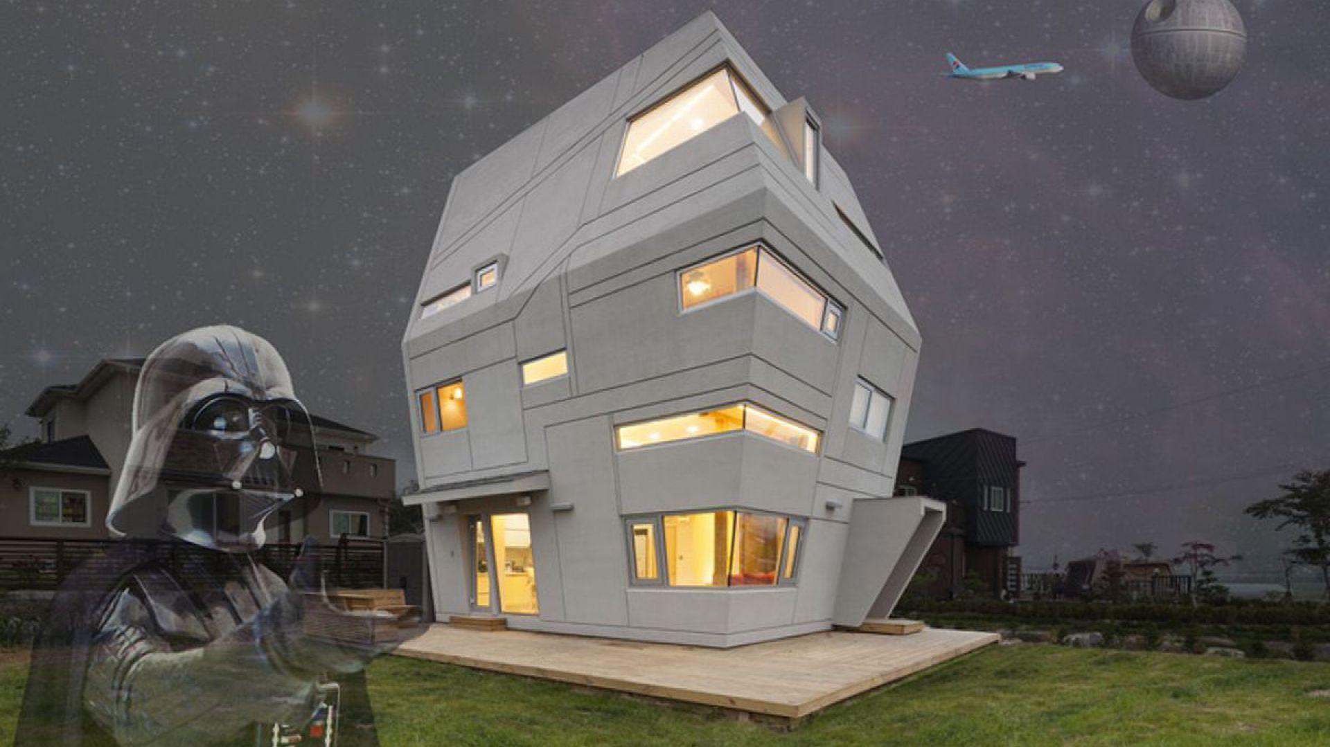 Dom jest realizacją marzeń właściciela, który jest fanem