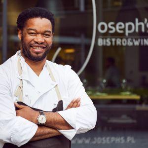 """Joseph """"Józek"""" Seeletso to absolwent prestiżowej angielskiej uczelni gastronomicznej Westminster Kingsway College w Londynie. Fot. Maciej Stankiewicz"""