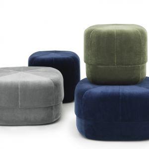 Oryginalne pufy CIRCUS dostępne w kilku modnych kolorach. Fot. Normann Copenhagen