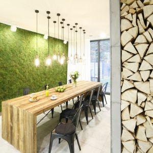 Efektowna zielona ściana o strukturze mchu. Projekt: Dariusz Grabowki, Fot. Bartosz Jarosz