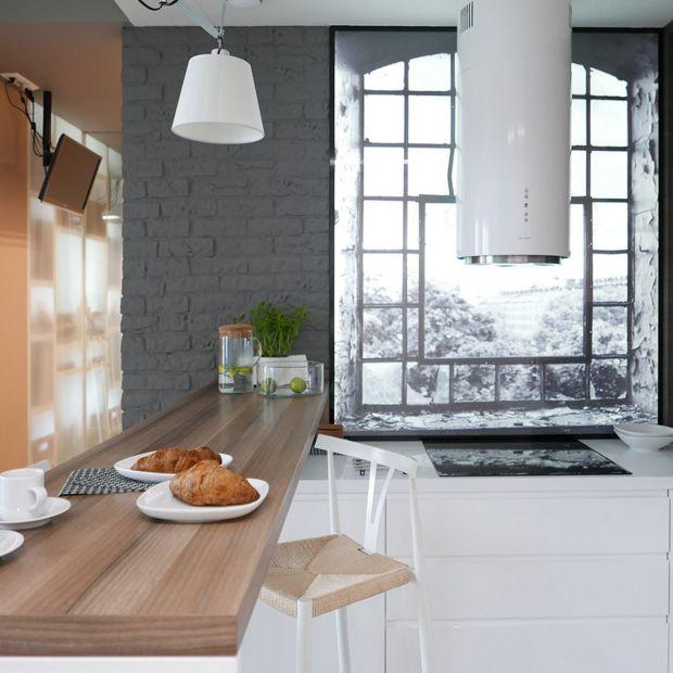 Projekt kuchni z oknem LED