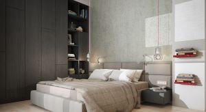 Aranżując sypialnięwarto zwrócić uwagę na odpowiednie kolory. W prezentowanej aranżacji projektantka postawiła na kolory ziemi, któreuspokajają zmysły i wprowadzają harmonię.