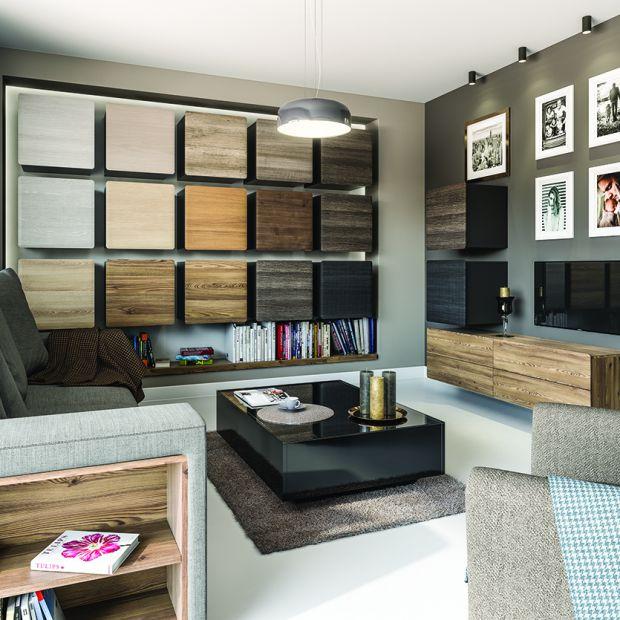 Salon ocieplony drewnem - 5 modnych pomysłów