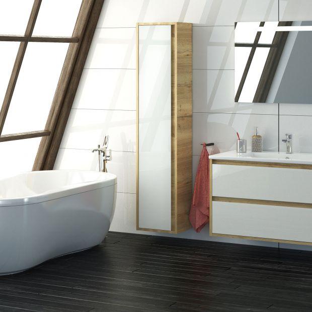 Meble do łazienki - na topie biel i jasne drewno