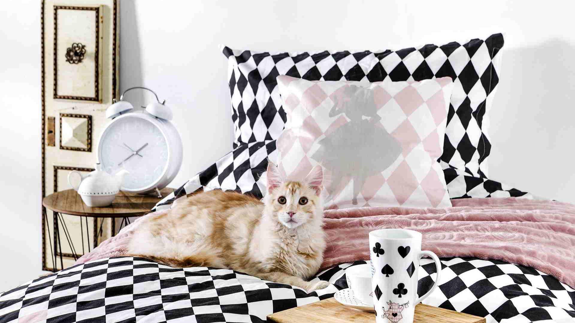 Zaczarowana kolekcja tekstyliów i ceramiki, inspirowana Alicją po drugiej stronie lustra. Fot. home&you