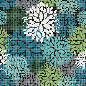 Mozaika FLORILEGE w kolorze zielonym. Fot. Mosaico Piu