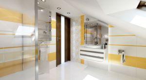 Kolorowyakcent w aranżacji łazienki – to pomysł na ocieplenietradycyjnej bieli. Abywnętrze nabrało charakteru wystarczyło dodać żółte oraz brązowe dodatki.