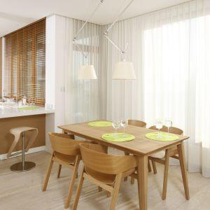 Kuchnia otwarta na salon. Projekt: Maciej Brzostek. Fot. Bartosz Jarosz