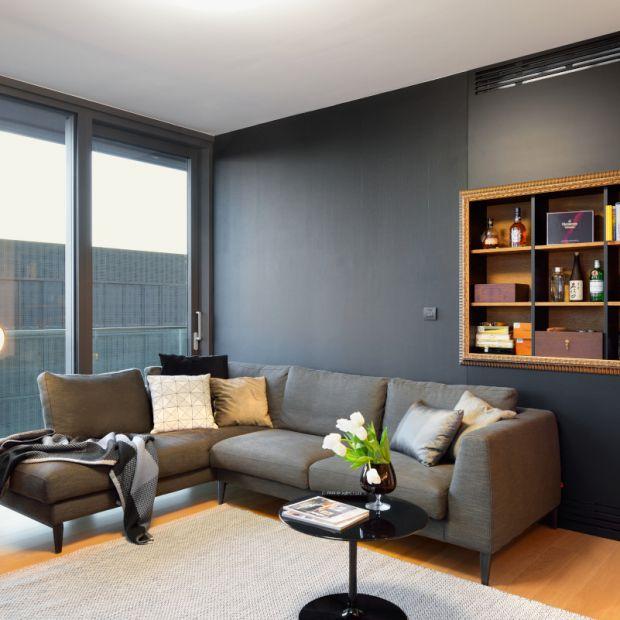 Nowoczesne mieszkanie - piękne wnętrze w czerni i bieli