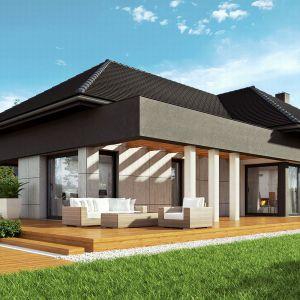 Domy w stylu minimalistycznym. Projekt:  HomeKONCEPT 46. Fot. HomeKONCEPT